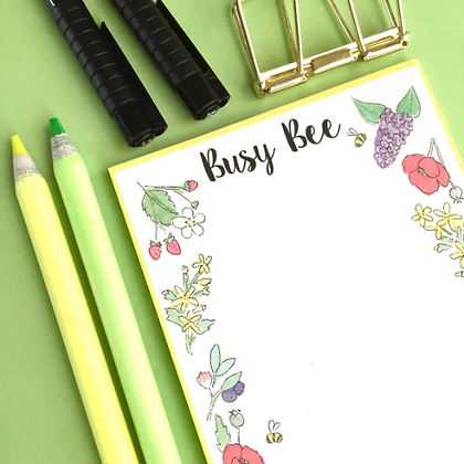 A6 Busy Bee Notepad