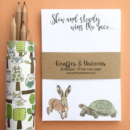 A6 Tortoise and Hare Notepad
