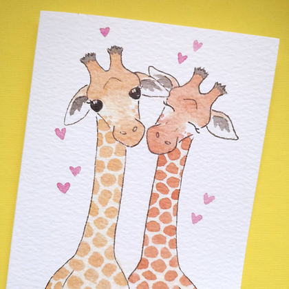 Giraffe Anniversary/Engagement Card