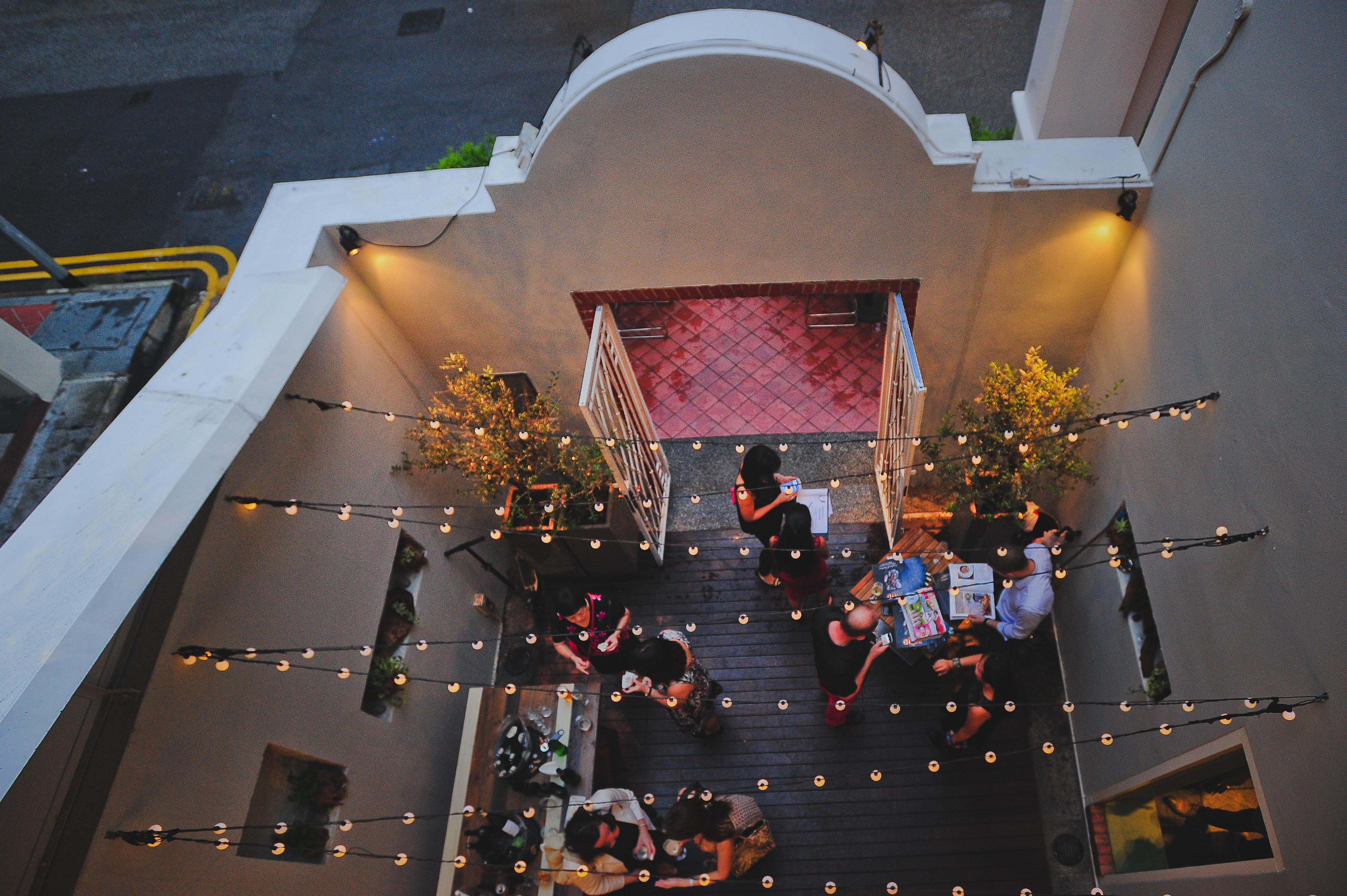 Happy hour at Gattopardo Courtyard
