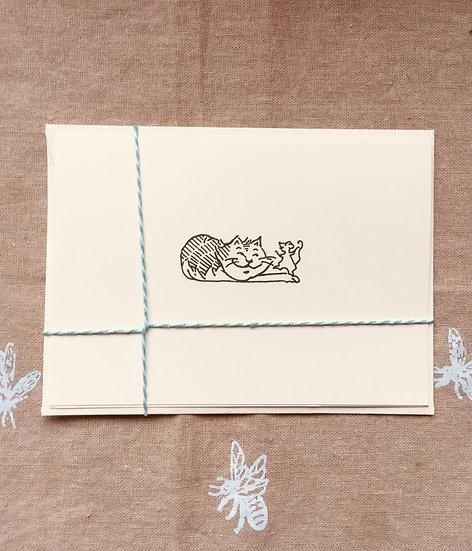Cat & Mouse Notecard