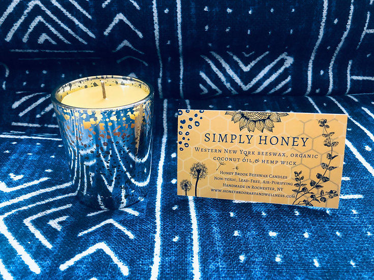 Simply Honey Silver Glitzy Glass Candle 3.5oz.