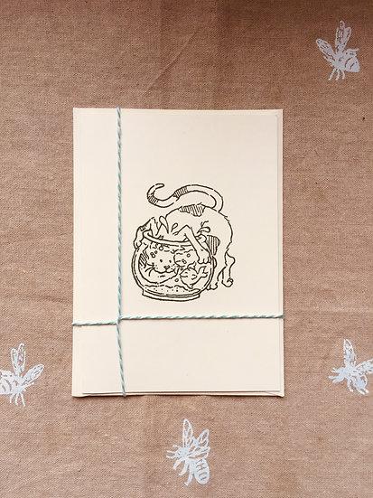 Fishbowl Fun Notecard