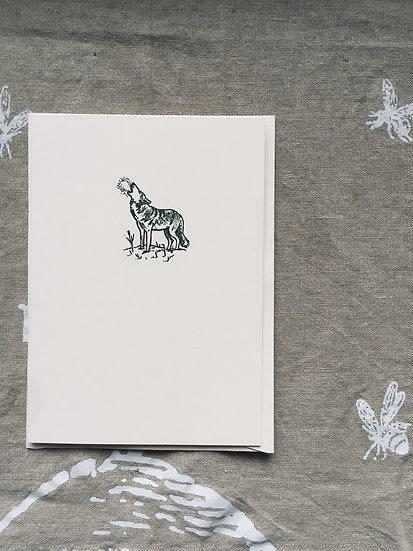 Howling Notecard