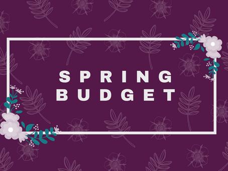 Spring Budget Recap 2021