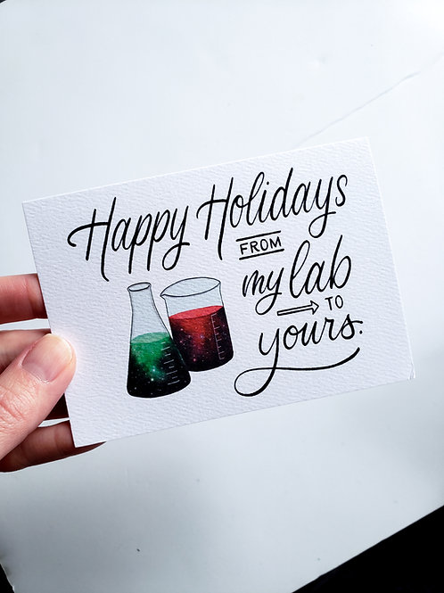 Happy Holidays from My Lab to Yours - Greeting Card