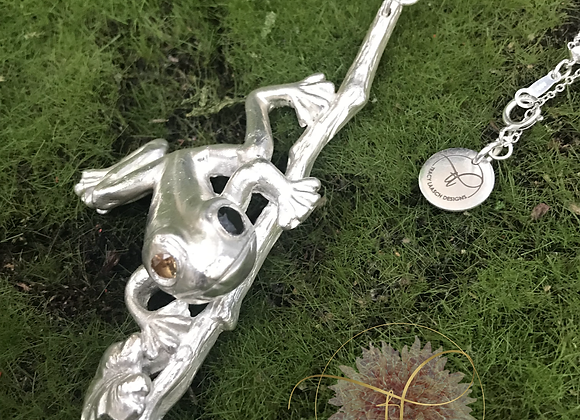 999 Fine Silver Chachi Tree Frog Necklace