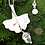 Thumbnail: Fine Silver Gingko Biloba Leaf Necklace with Crystal Drop