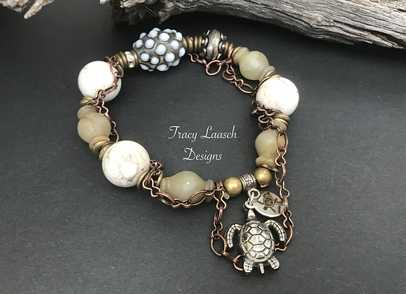Urchins and Turtles Stretch Bracelet