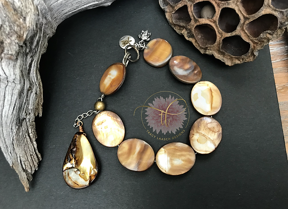 Golden Abalone Bracelet with clasp