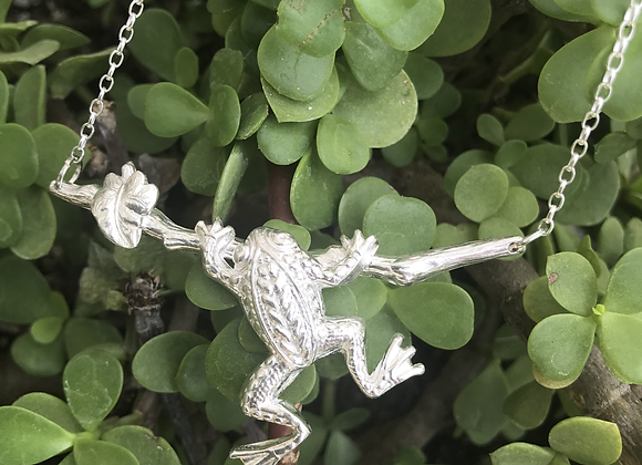 The Fine Silver Tree Frog Necklace