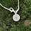 Thumbnail: Fine Silver Bug on a Lily Pad Necklace