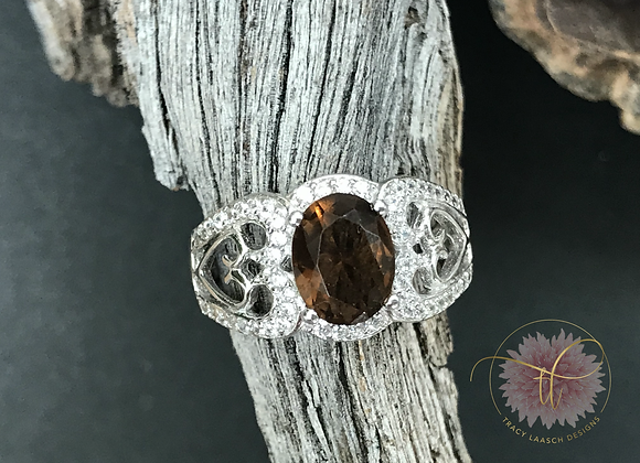 Topaz Hearts Ring