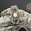 Thumbnail: Opal & Double Garnet Ring