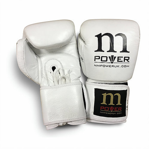 WHOLESALE White Leather Boxing Gloves