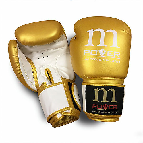 Gold/White Highest Quality Genuine Mexican Leather Gloves