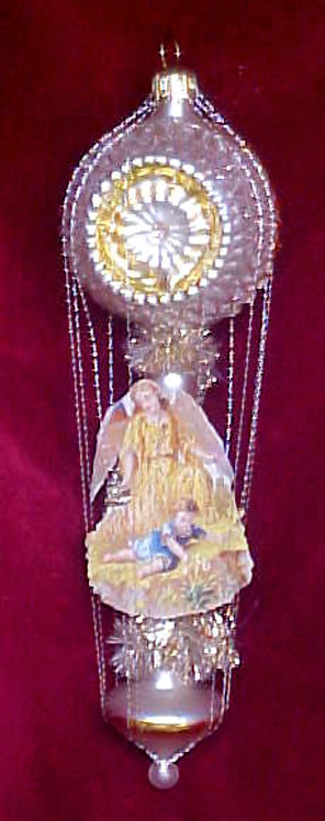 #5512-028 - Wire Wrapped Angel on Reflector Balloon - Yellow