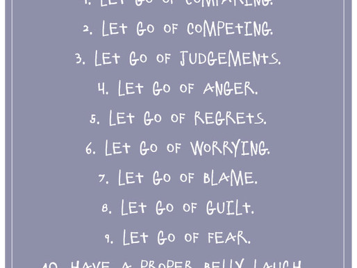 BONUS...Tips to Get You Started on Your Path to Letting Go