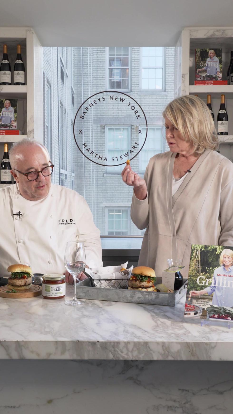Martha Stewart x Barney's Celebrity Burger