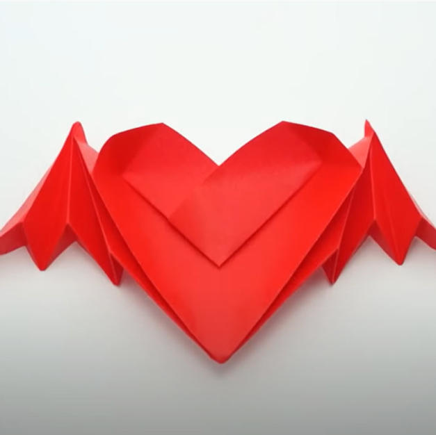 Origami Bat-winged Heart