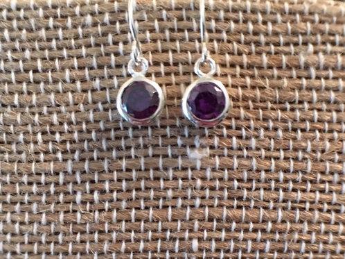 Sterling Silver Birthstone Drop Earrings