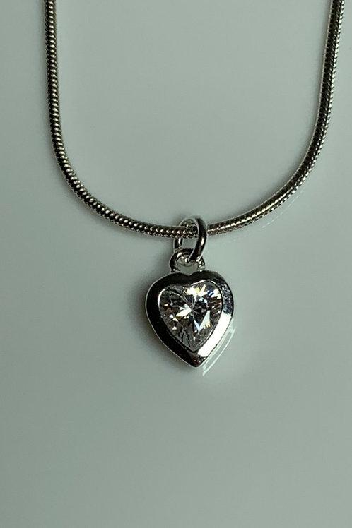 Cubic Zirconia Heart