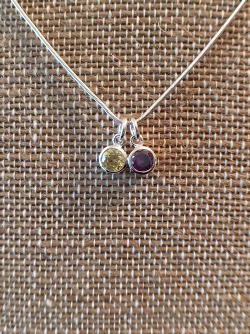 2-Birthstone Mothers Necklace - $28 and up