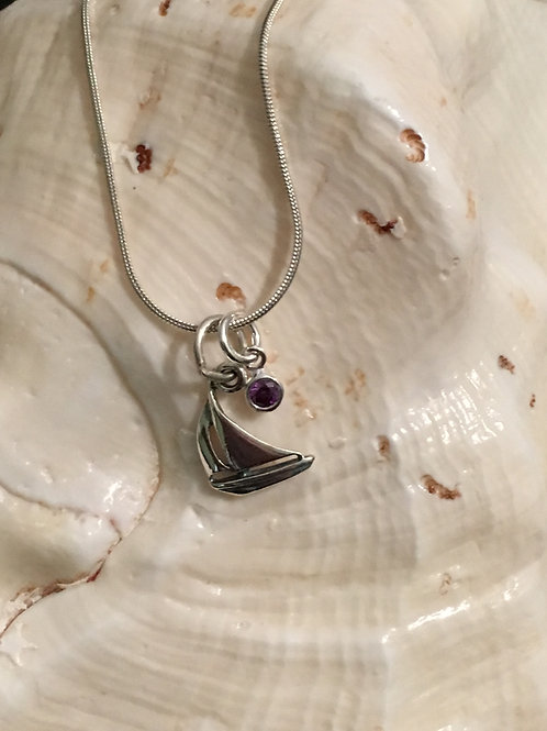 Sailboat with Birthstone