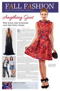 Sara Campbell outfits featured in Scarsdale News Fall Fashion special section