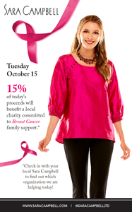 Sara campbell support breast cancer giveback charity community