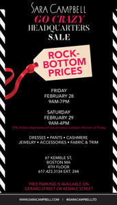 Sara campbell go crazy headquarters Kemble street Boston warehouse sale
