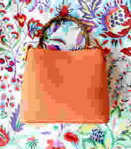 sara campbell orange crossbody handbag bag