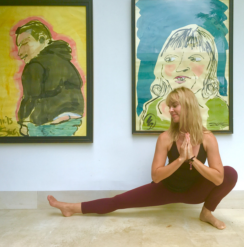 WELLOGA yoga, Toronto Wellness Programs, what is yoga, what is yoga all about,  what is yoga good for, yoga benefits, importance of yoga, surfers lunge, slowdown, skandasana, yogi jennfifer doheney, calm your nervous system, reduce stress,