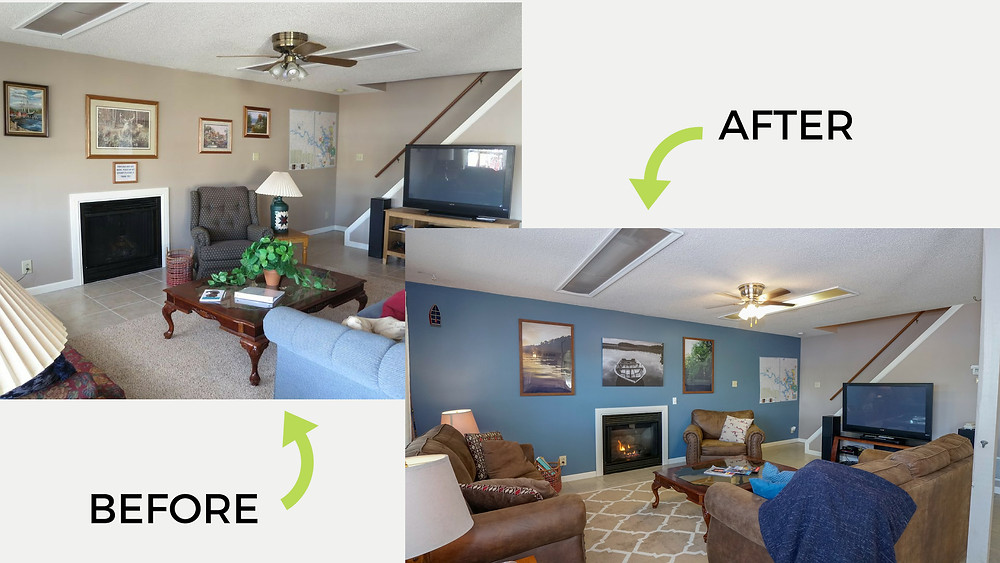 Vacation rental before & after makeover pictures