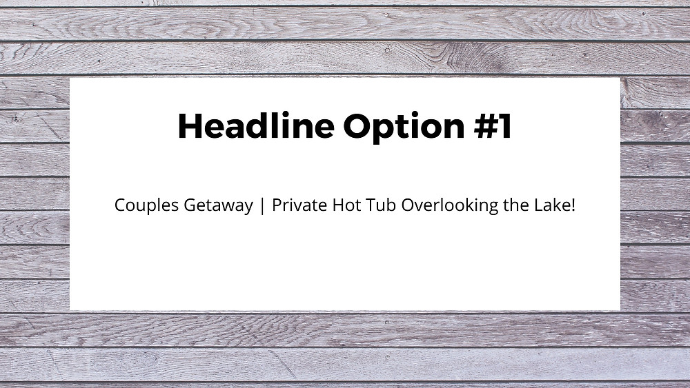 vrbo headline optimization training