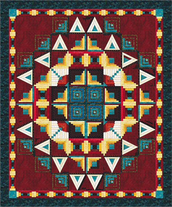 """Block of the Month quilt project, """"Tuscarora Lake"""""""