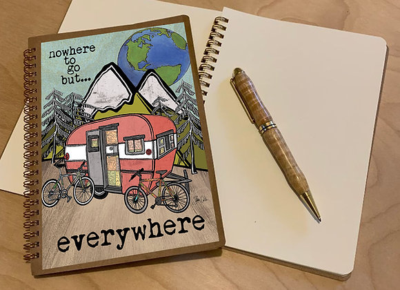 Nowhere To Go But Everywhere Spiral Journal