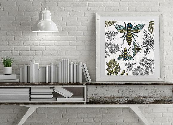 Bees Print