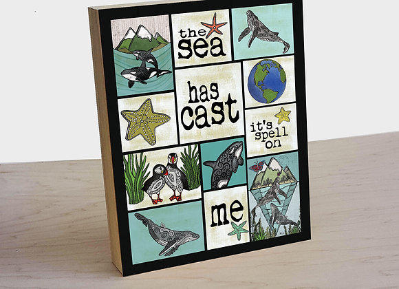 The Sea Has Cast A Spell On Me Wood Art Panel