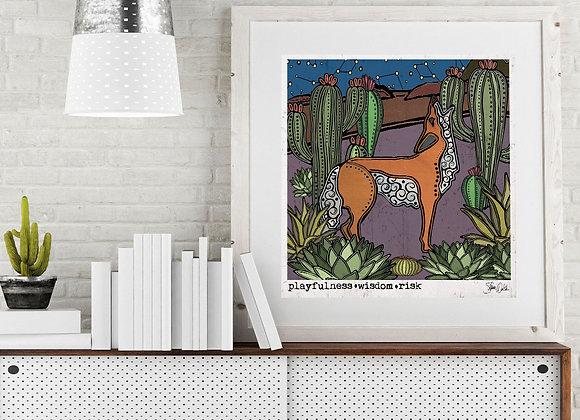 Coyote & Cactus