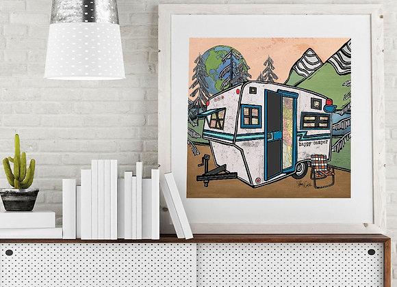 Vintage Camper Trailer 2 Print
