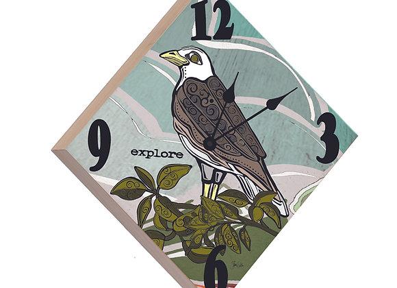Eagle Wood Panel Clock