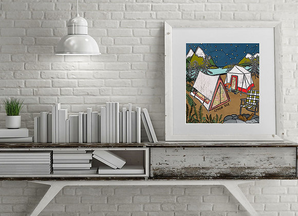 Dream Big Camping Print