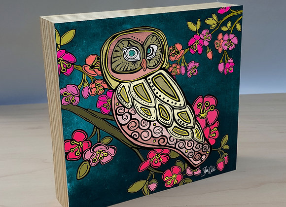 Owl 1 Wood Art Panel