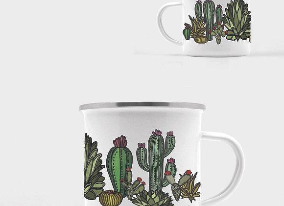 Go West Cactus Enamel Camp Mug