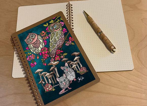 Owl & Mice Spiral Journal