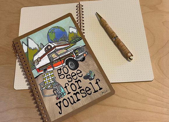 Vintage Truck Camper Spiral Journal