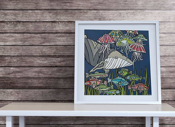 Sea Life Whale Print