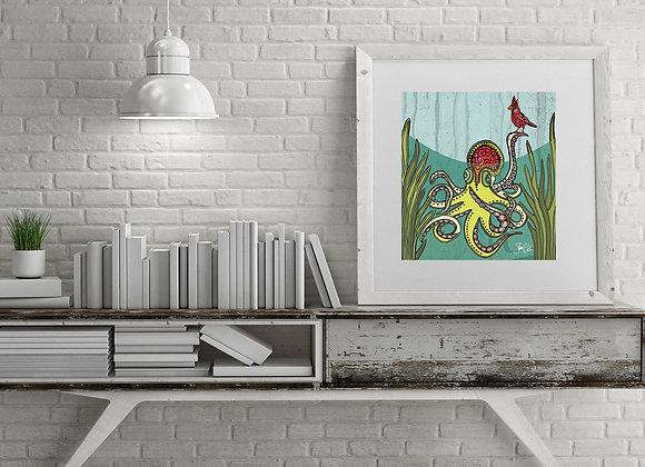 Octopus & Cardinal