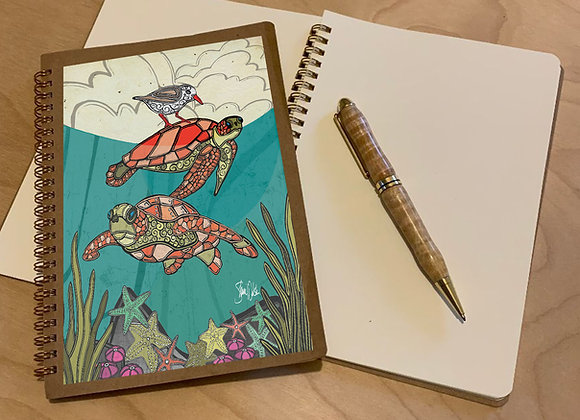 Sea Turtle Spiral Journal